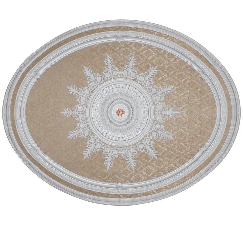 Blanco Oval Chandelier Ceiling Medallion