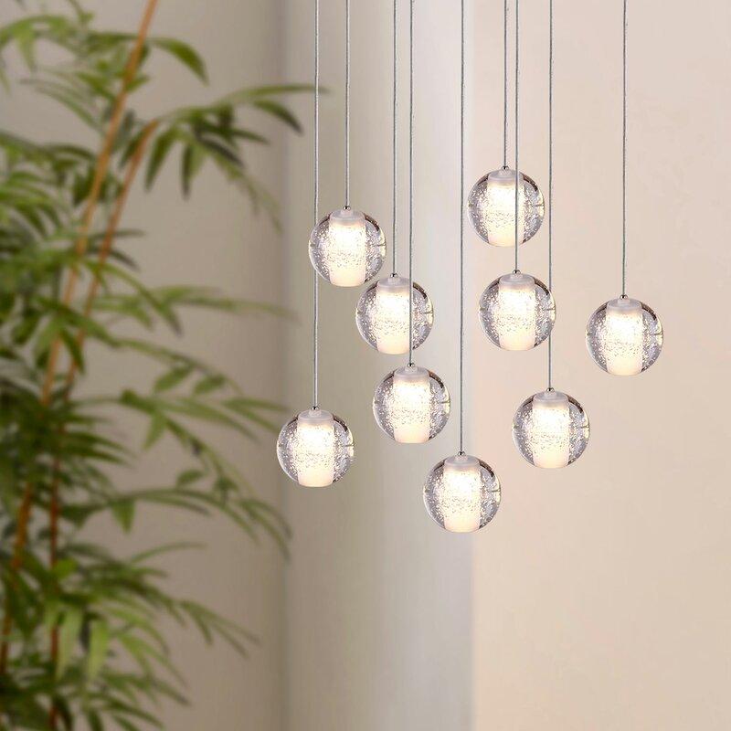 Bernstein 9-Light Cluster Pendant