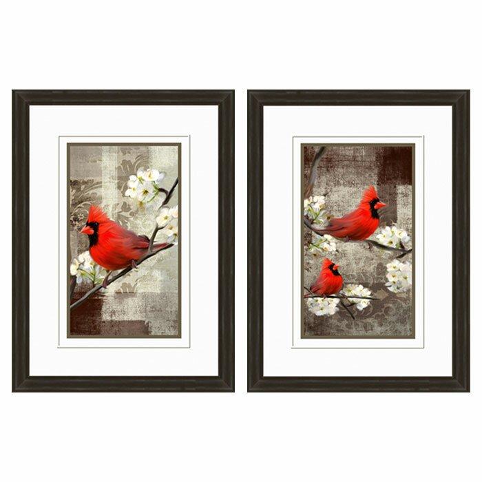 Cardinal Framed Graphic Art Print Set (Set of 2)