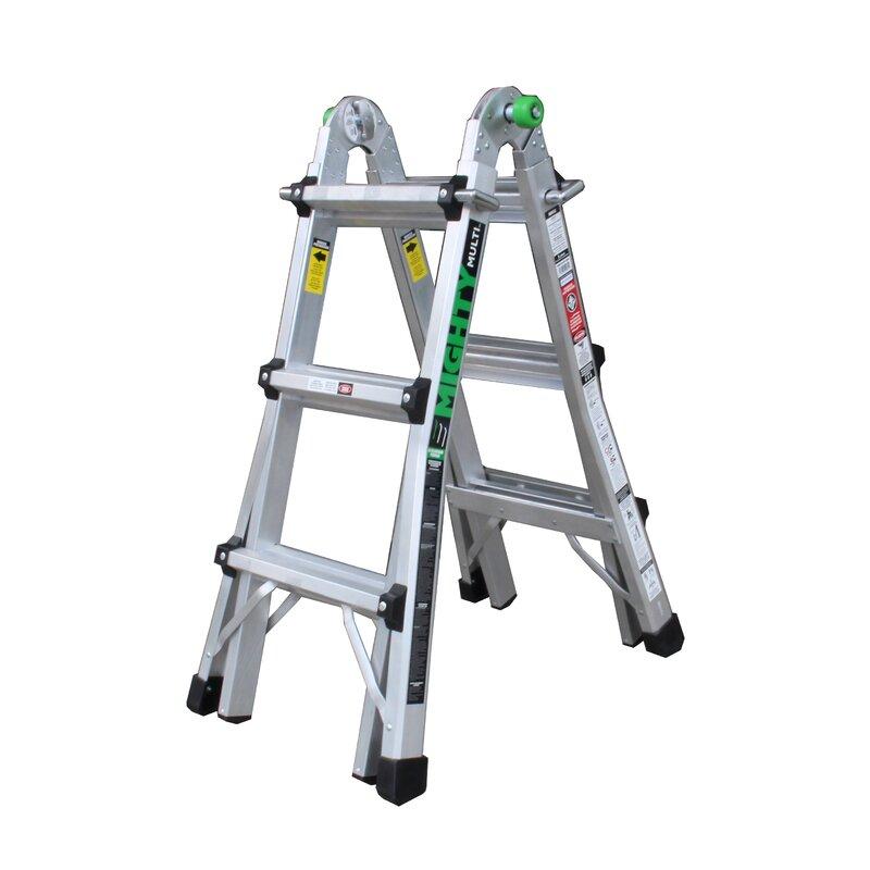 Mighty 44 ft Aluminum Multi-Position Ladder