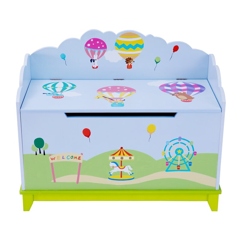Hot Air Balloons Toy Storage Bench