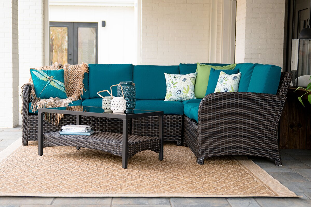 Keyser 5 Piece Sectional set with Cushions