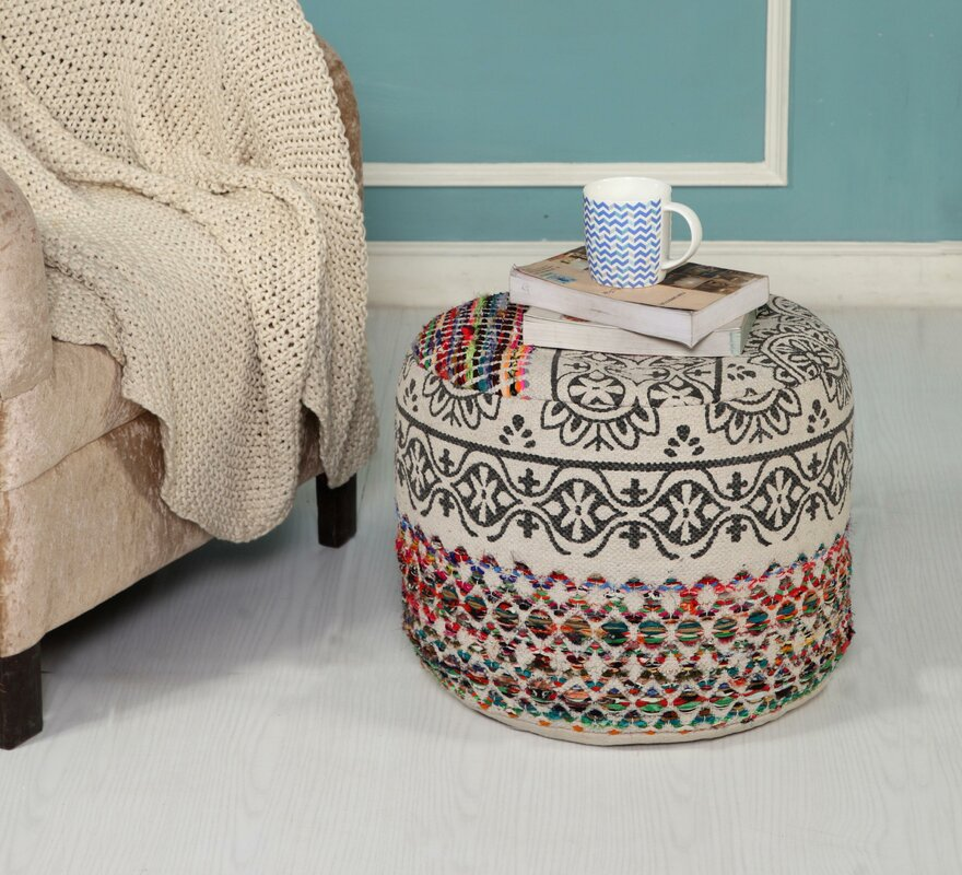 Ladner Recycled Neo-Bohemian Pouf