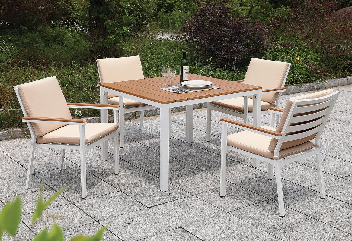 Eisenhower 5 Piece Dining Set with Cushions