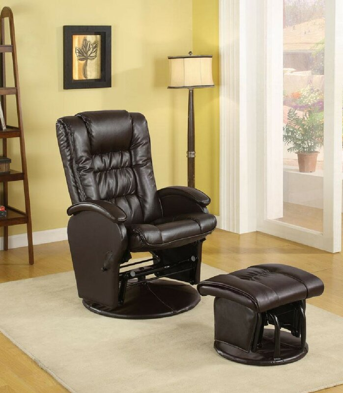 Cuomhouse Reclining Glider and Ottoman