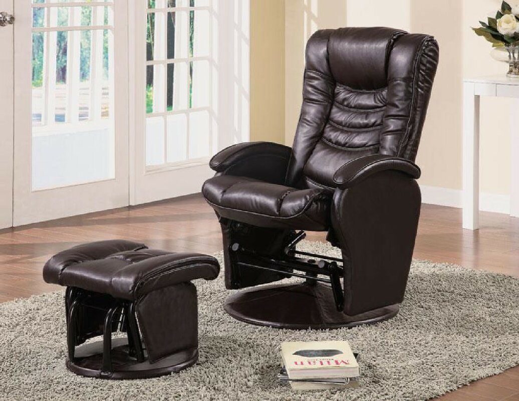 Crown Reclining Glider and Ottoman