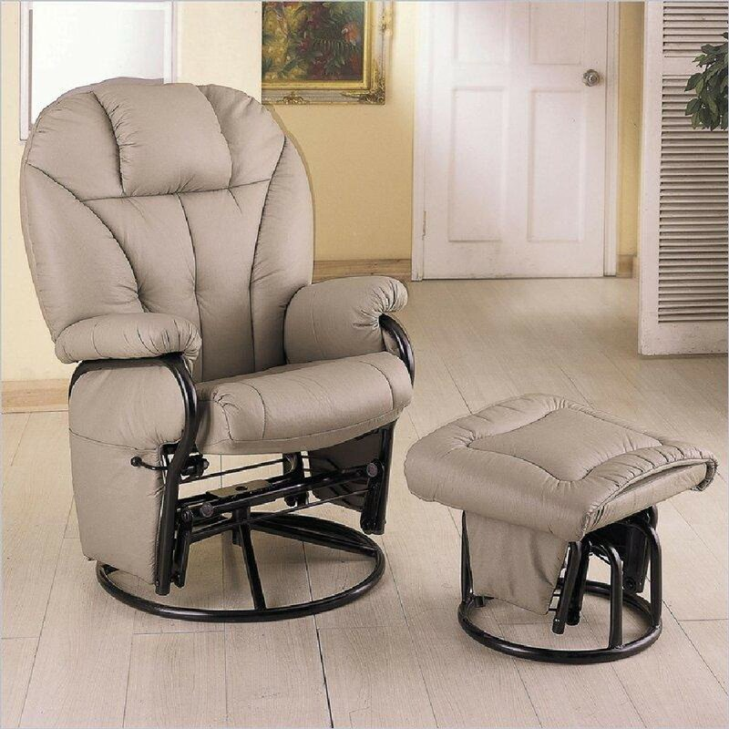 Cuvier Reclining Glider and Ottoman
