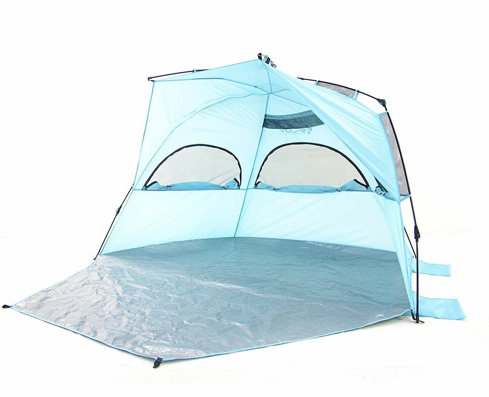 Easy Setup Instant Beach 4 Person Tent with Carry Bag (Set of 4)