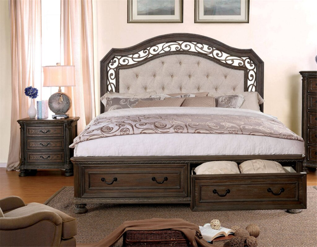 Simpson Upholstered Storage Panel Bed