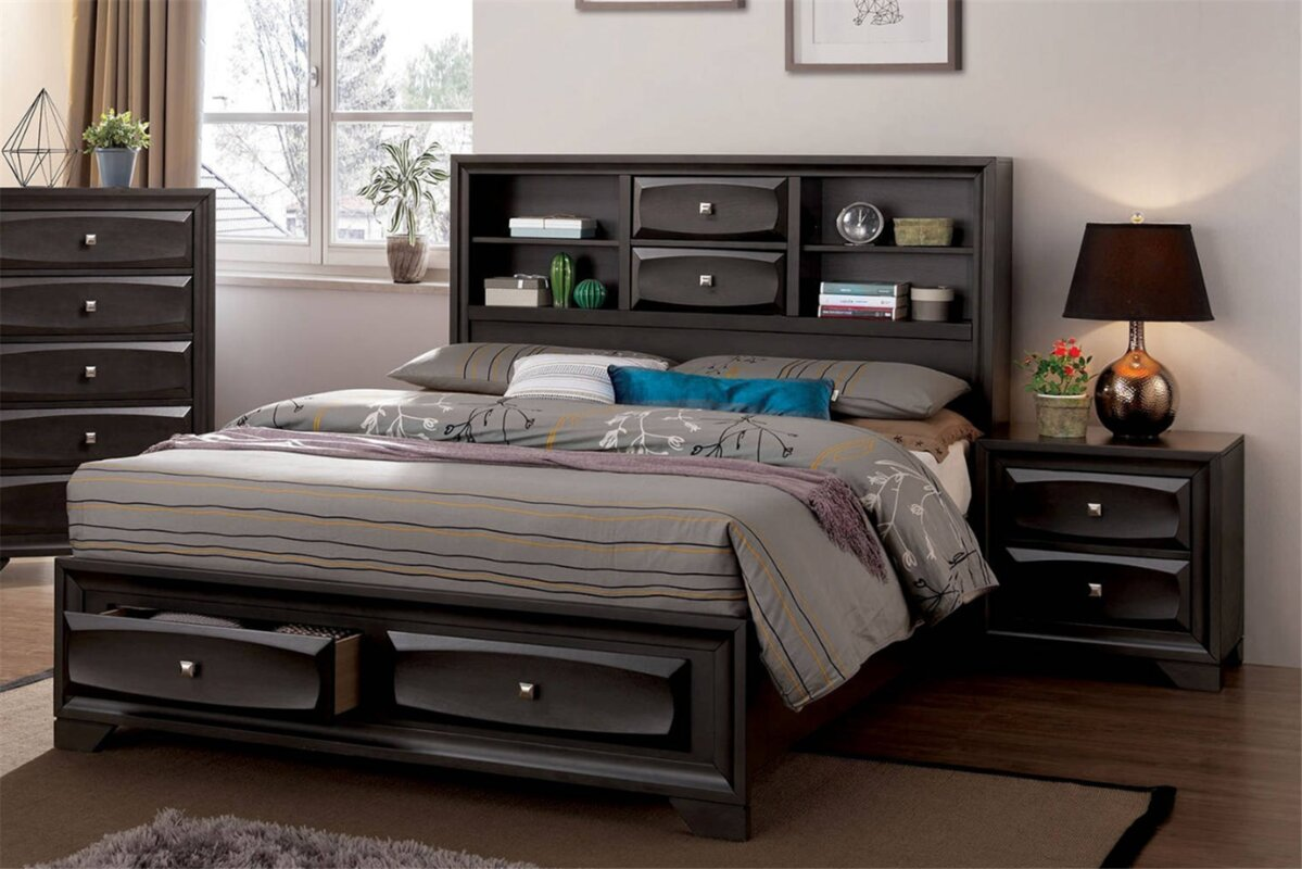 Huckleberry Storage Platform Bed