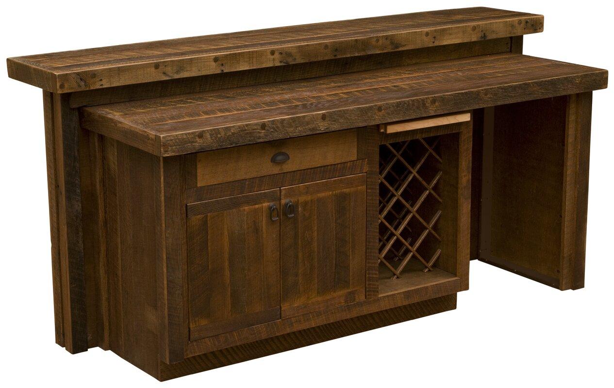 Corrugated Bar with Wine Storage