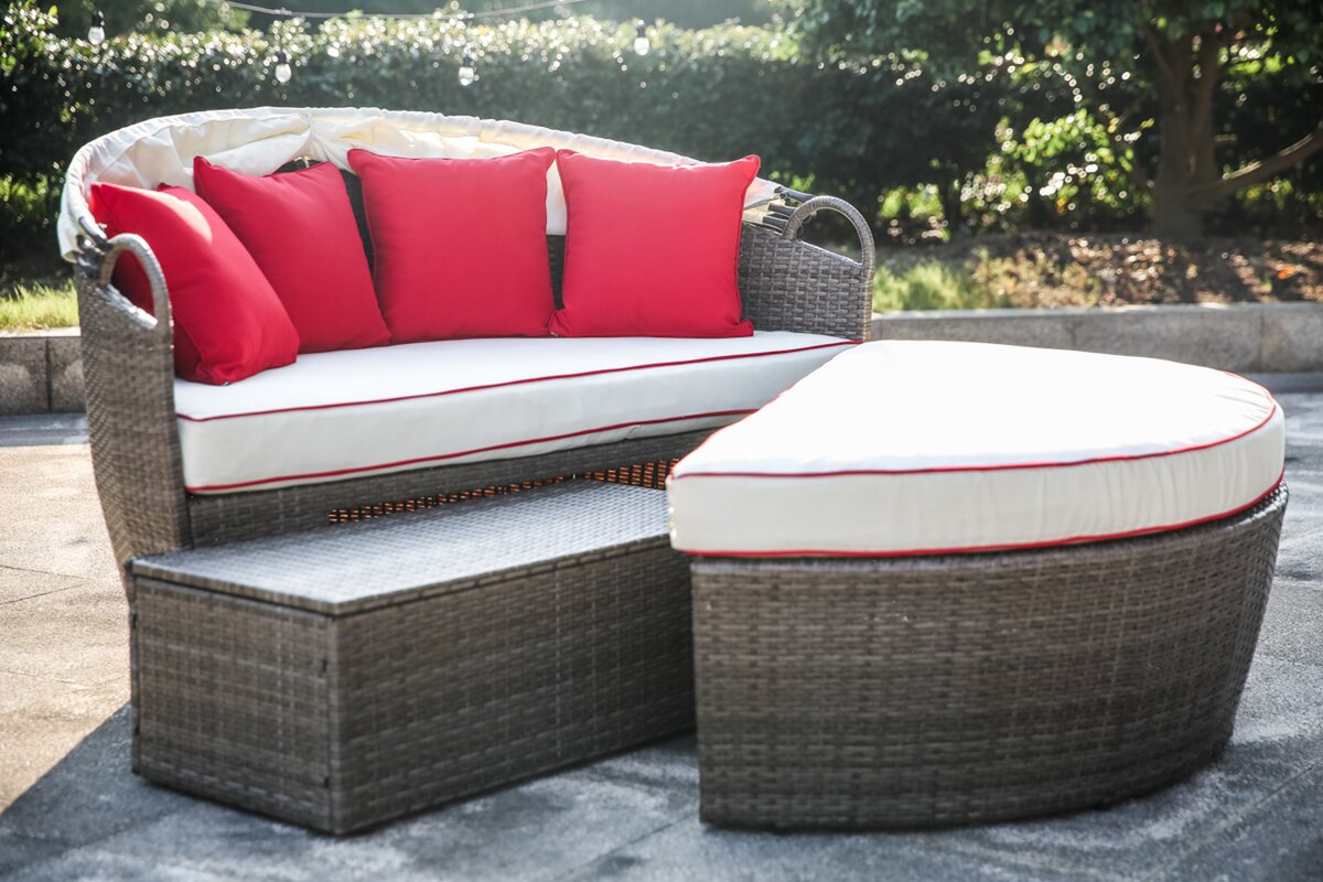 Fansler Patio Daybed with Cushions