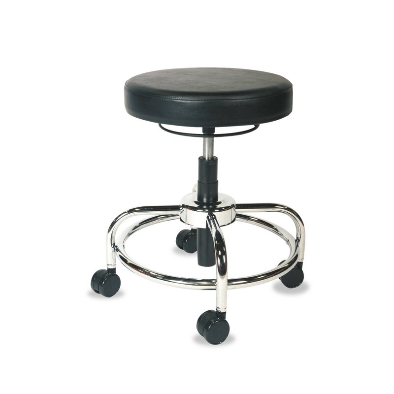 HL Series Height Adjustable Utility Stool with Dual Wheel