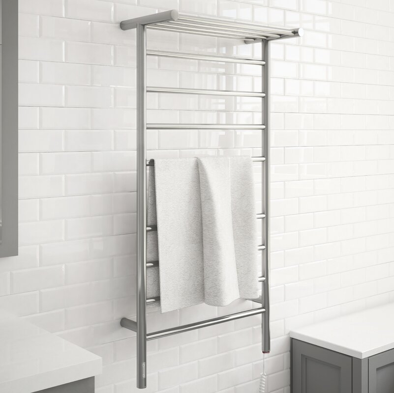 Piazzo OBT 8 Bar Dual Wall Mounted Electric Towel Warmer with Integrated On-Board Timer