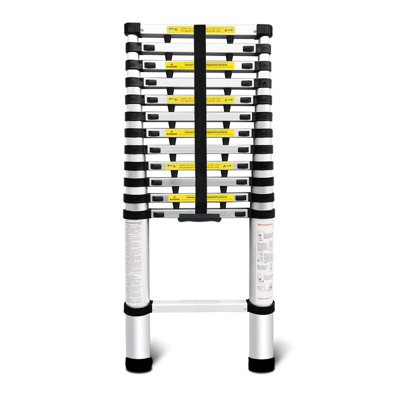 Telescopic Loft Extension Multi-Purpose Ladder 13.45 ft Aluminum Extension Ladder with 375 lbs