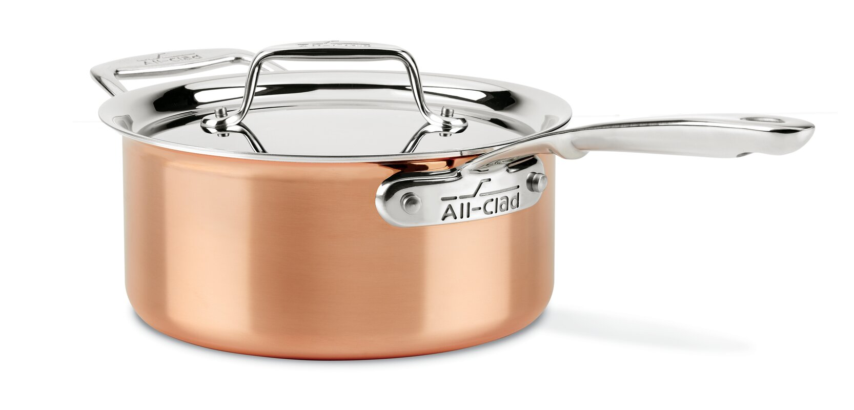 All-Clad 3 qt. Copper Saucepan with Lid