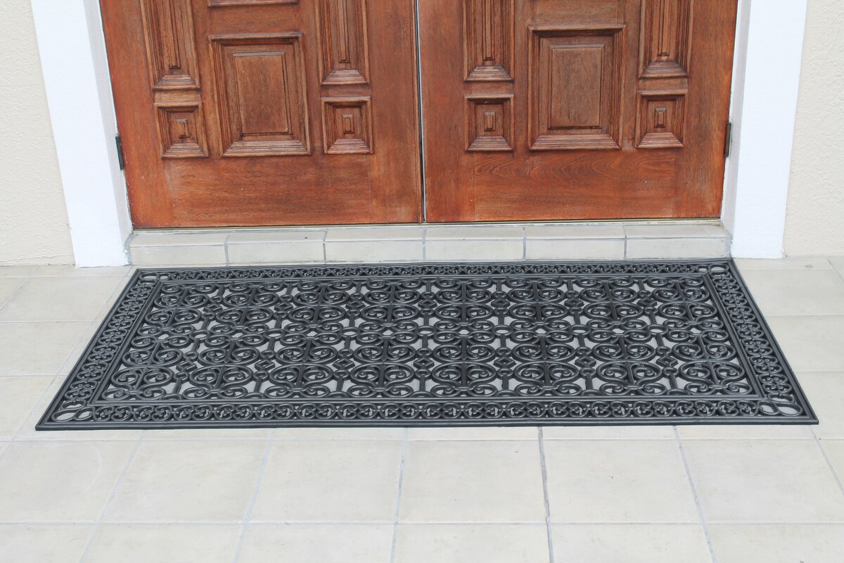 First Impression Rubber Paisley 72 in. x 36 in. Non-Slip Outdoor Door Mat