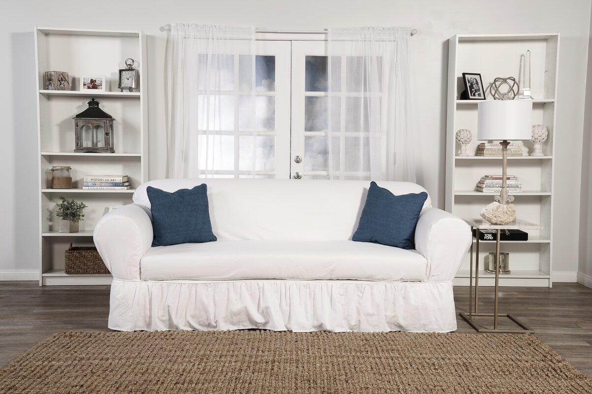 Sofa Skirted Box Cushion Slipcover
