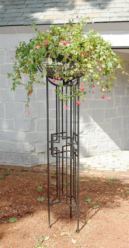 Square-on-Squares Pylon Iron Gothic Trellis