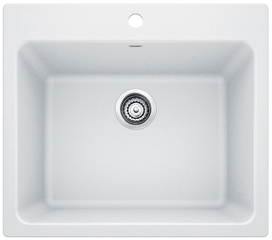 "Liven 25"" X 22""Dual Mount Laundry Sink"