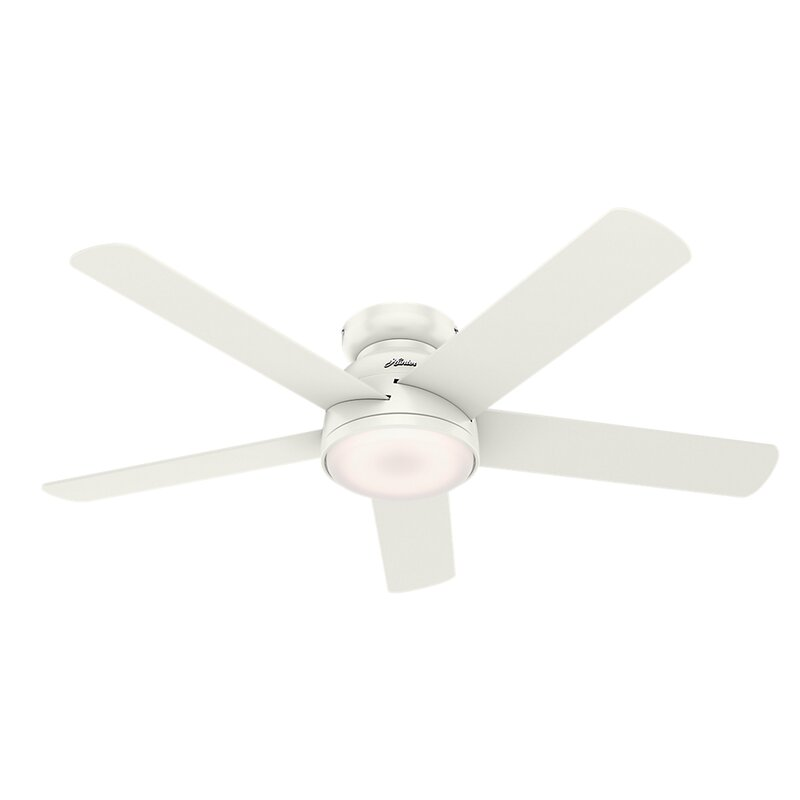 "54"" Romulus 5 Blade LED Smart Ceiling Fan with Remote, Light Kit Included"