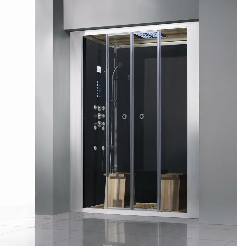 """Luxury Walk-In 60"""" x 90"""" Rectangle Sliding Steam Shower with Base Included"""