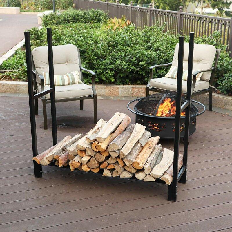 Heavy Duty Iron Firewood Log Rack