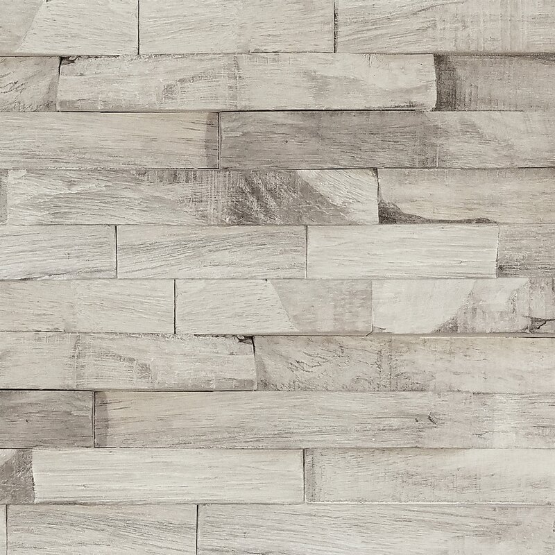 "Aja 5.87"" x 24"" Solid Wood Wall Paneling"