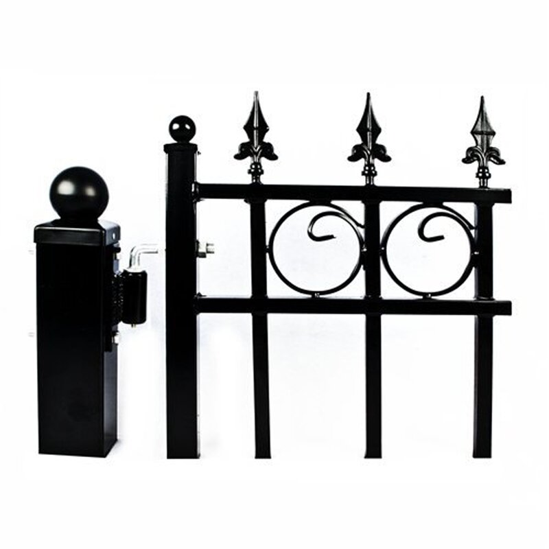 Set of 2 Post and 4 Hinges for Dual Metal Driveway Gate