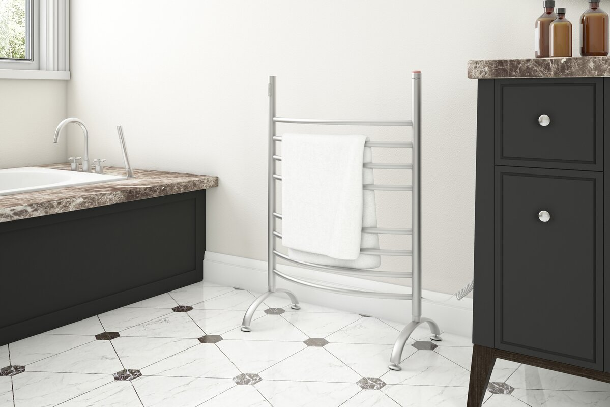 Imperia Wall Mounted and Free Standing Electric Towel Warmer with Integrated On-Board Timer