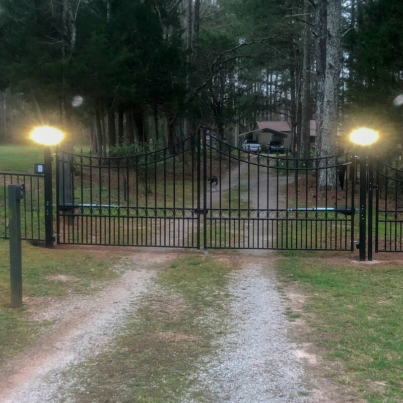 Moscow Steel Dual Swing Driveway Gate