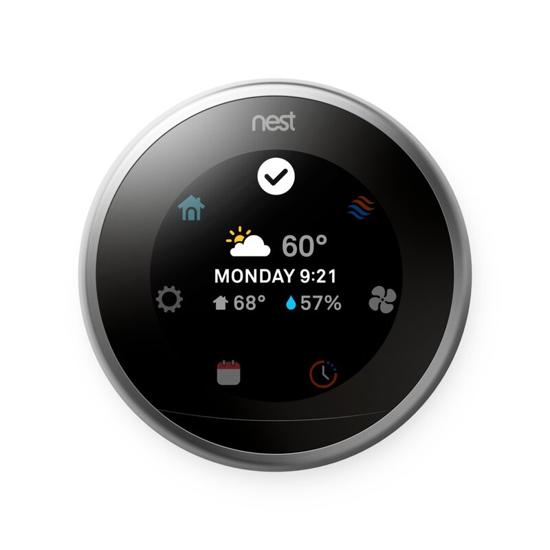 Google Nest Silver Wi-Fi Enabled Thermostat