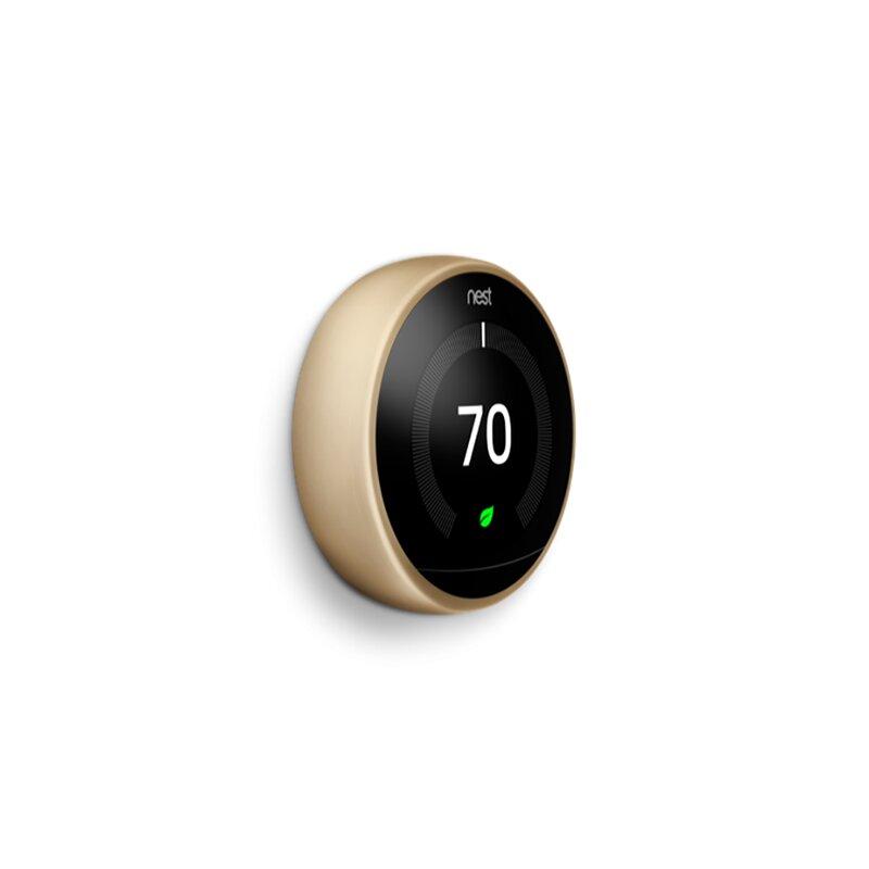 Google Nest Brass Wi-Fi Enabled Thermostat