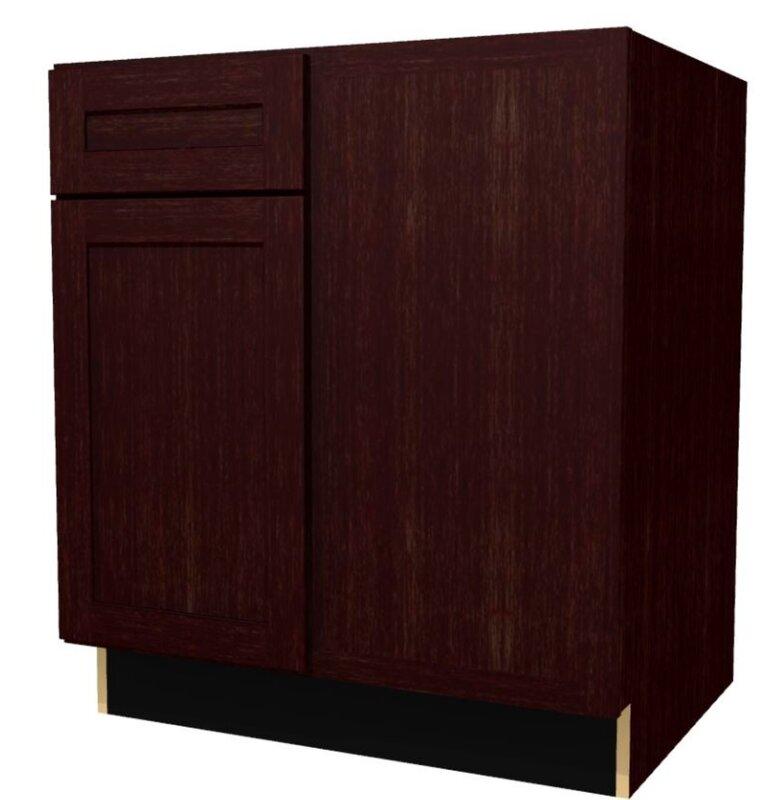 """Platte Base Blind 34.5"""" H Corner Cabinet"""