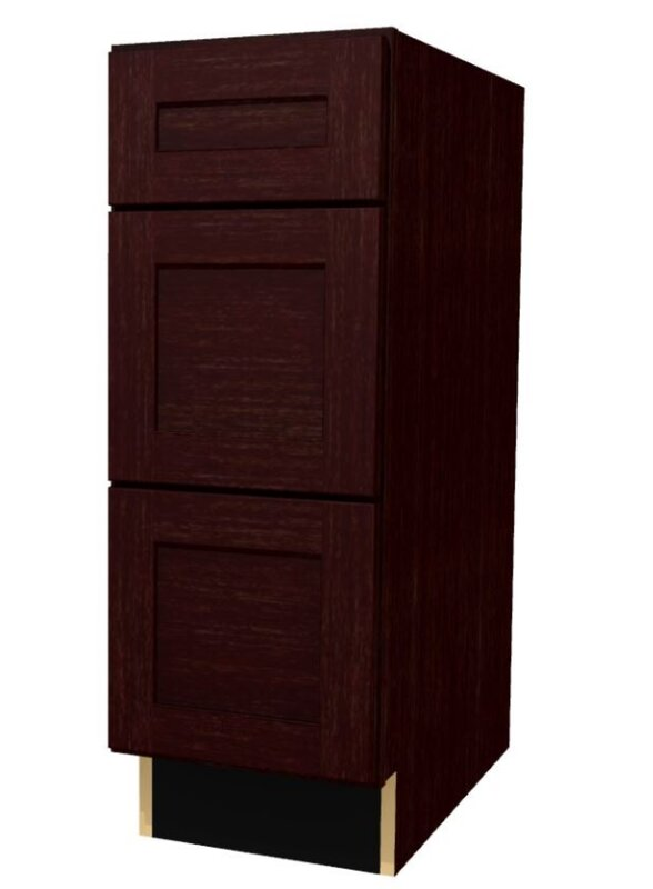 "Platte Three Drawer 34.5"" H Base Cabinet"