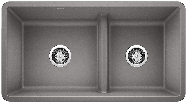 "Precis Silgranit® 33"" L X 18"" W Double Basin Undermount Kitchen Sink"