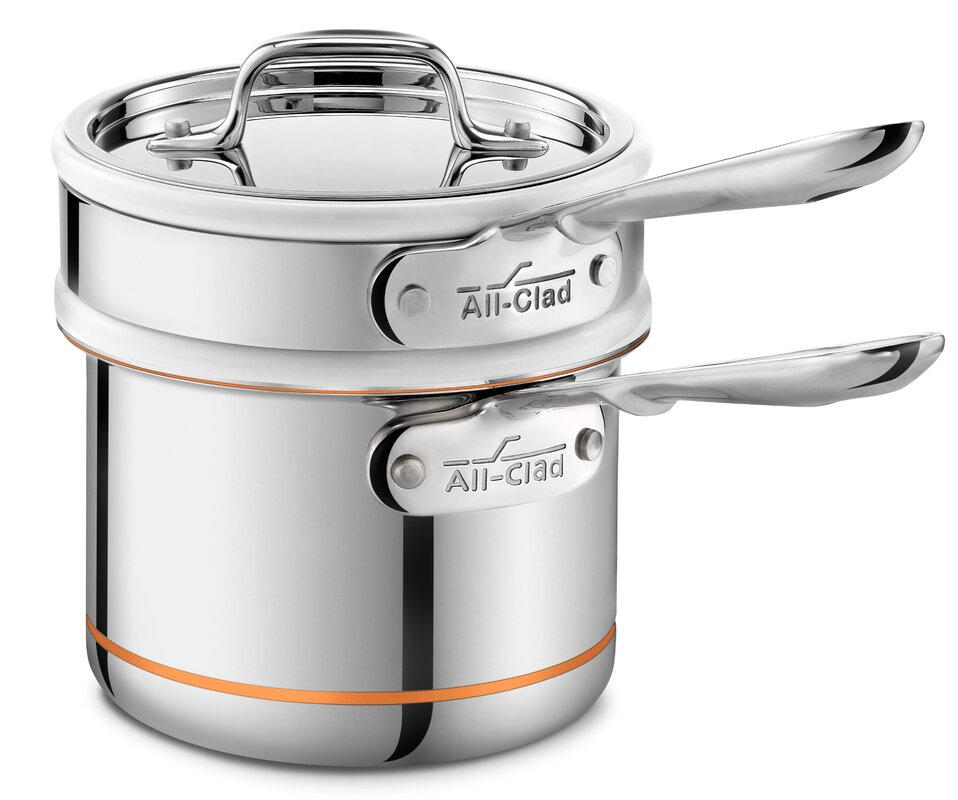 Copper Core 1.5-qt. Double Boiler with Lid