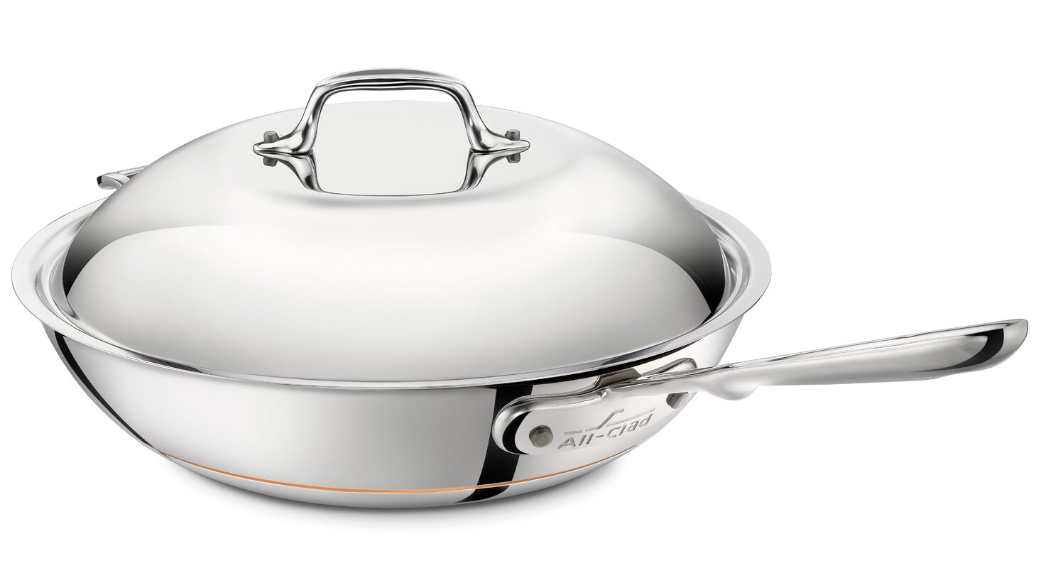 "Copper Core 12"" Chef's Pan with Lid"