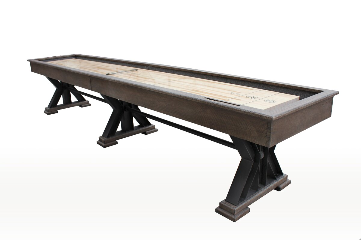 The Weathered Shuffleboard Table