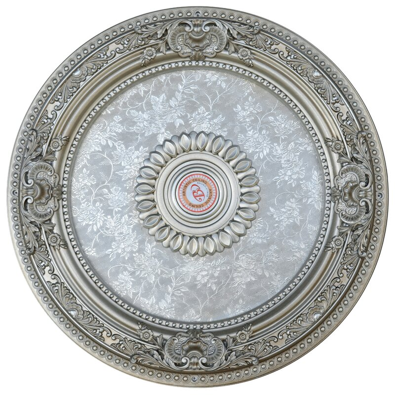 Petite Round Champagne Ceiling Medallion