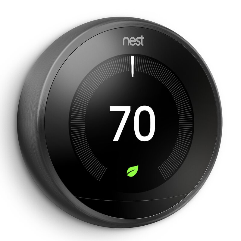 Google Nest Black Wi-Fi Enabled Thermostat