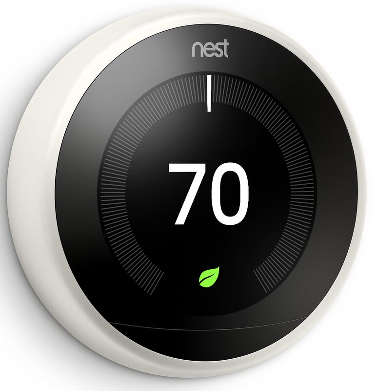 Google Nest White Wi-Fi Enabled Thermostat