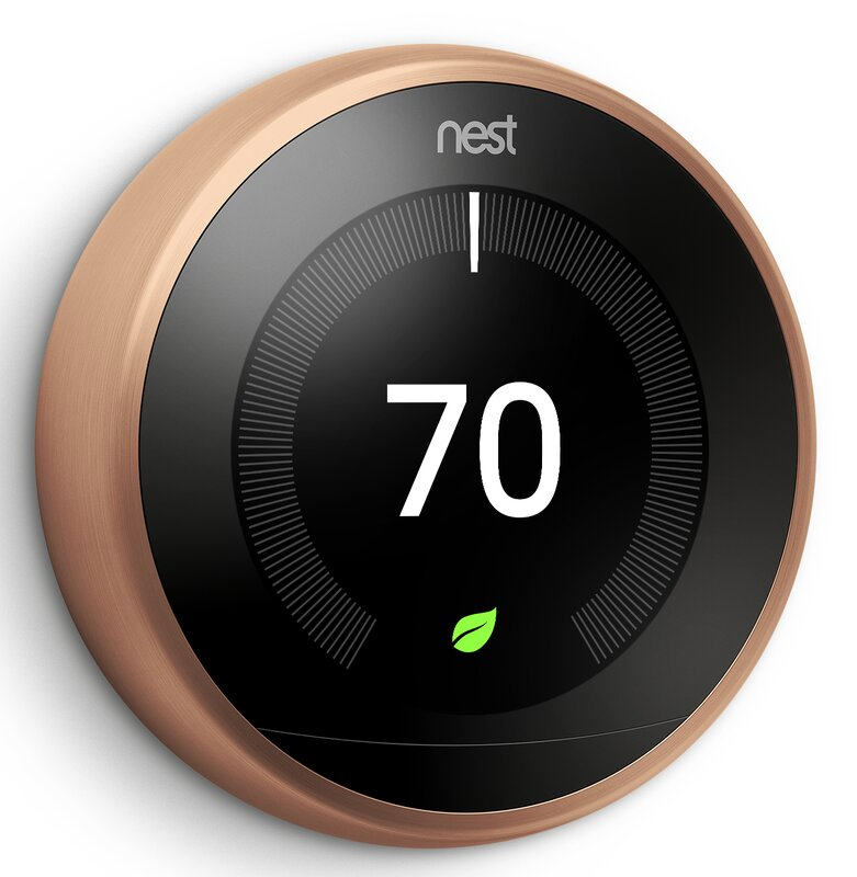 Google Nest Copper Wi-Fi Enabled Thermostat
