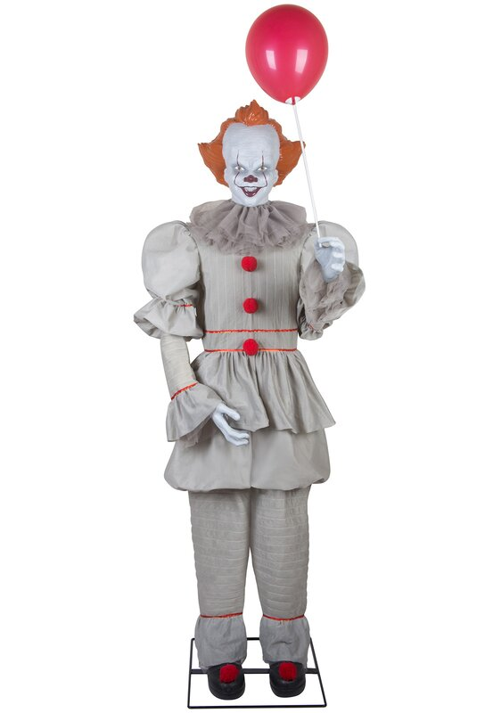 Life-Size Animated Pennywise Halloween Prop Lighted Display