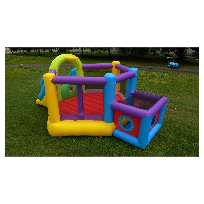 Super Sports Fort Inflatable Slide