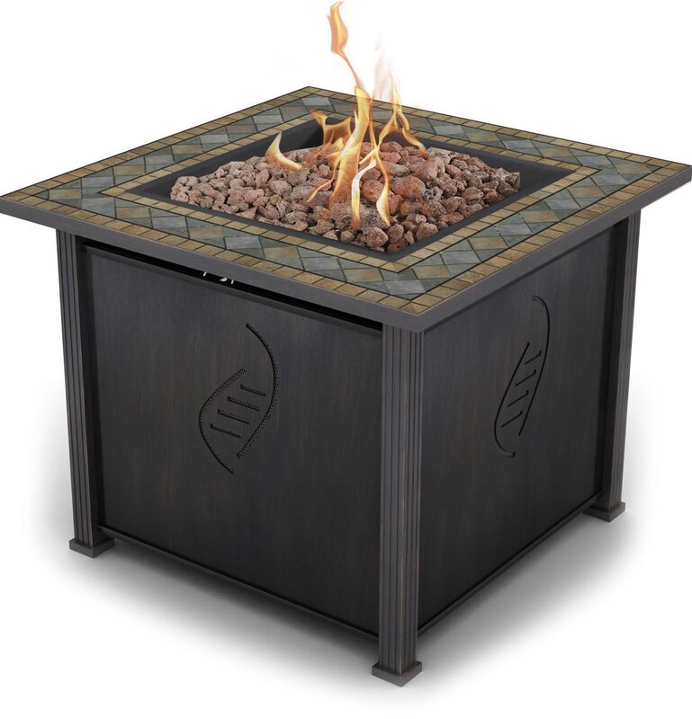 Rockwell Gas Polyresin Propane Fire Pit