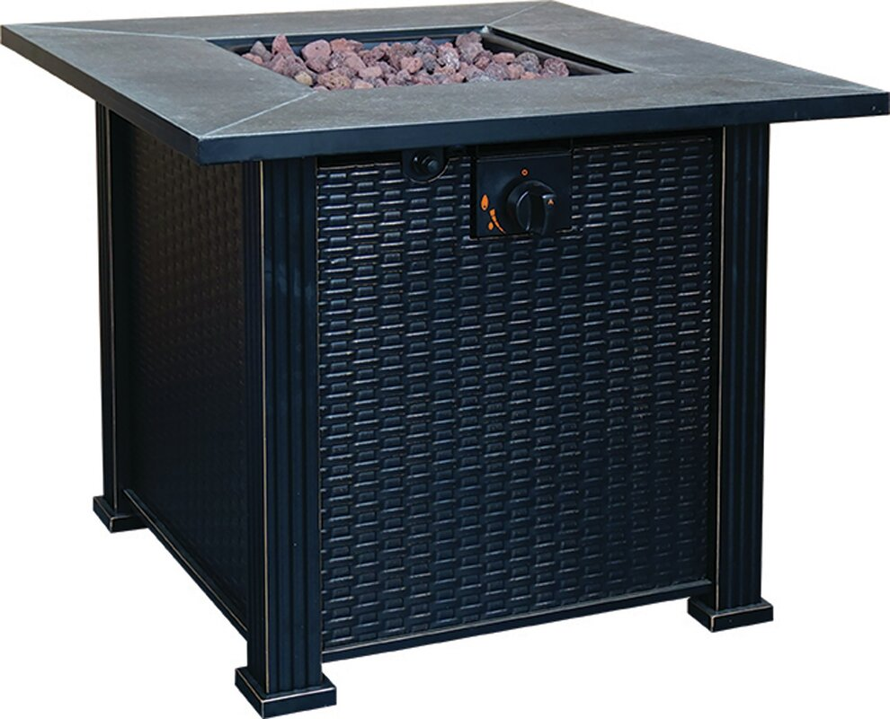 Terrace Park Gas Polyresin Propane Fire Pit
