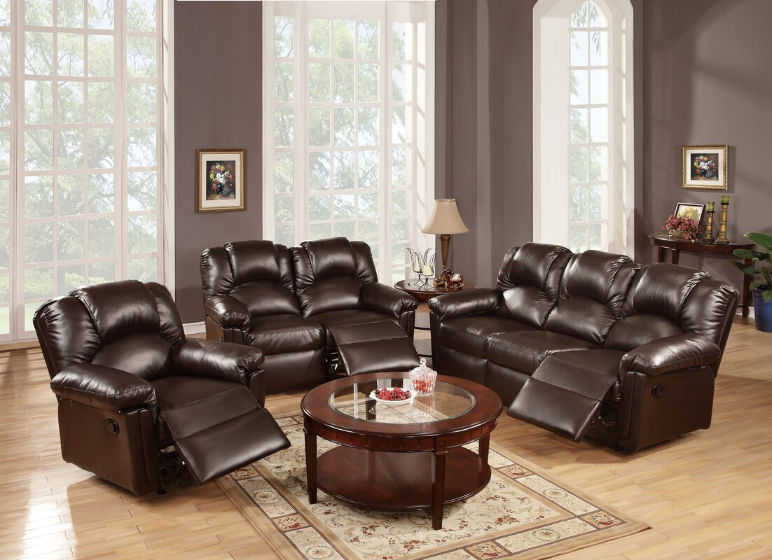 Andy 3 Piece Reclining Living Room Set