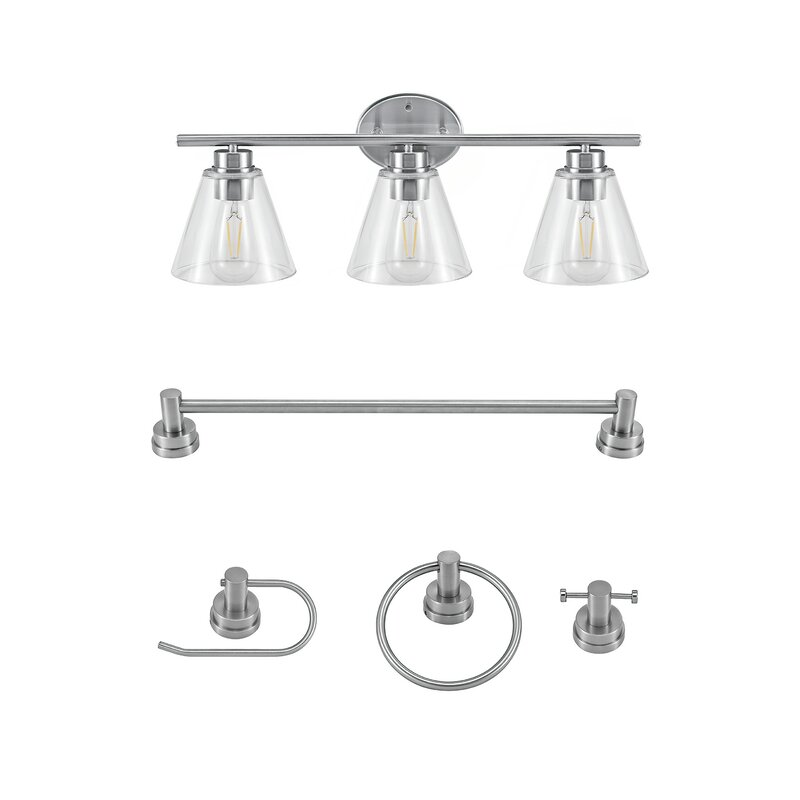 Nassau 5 Piece Bathroom Hardware Set