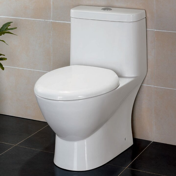 Serena Dual Flush Elongated One-Piece Toilet (Seat Included)
